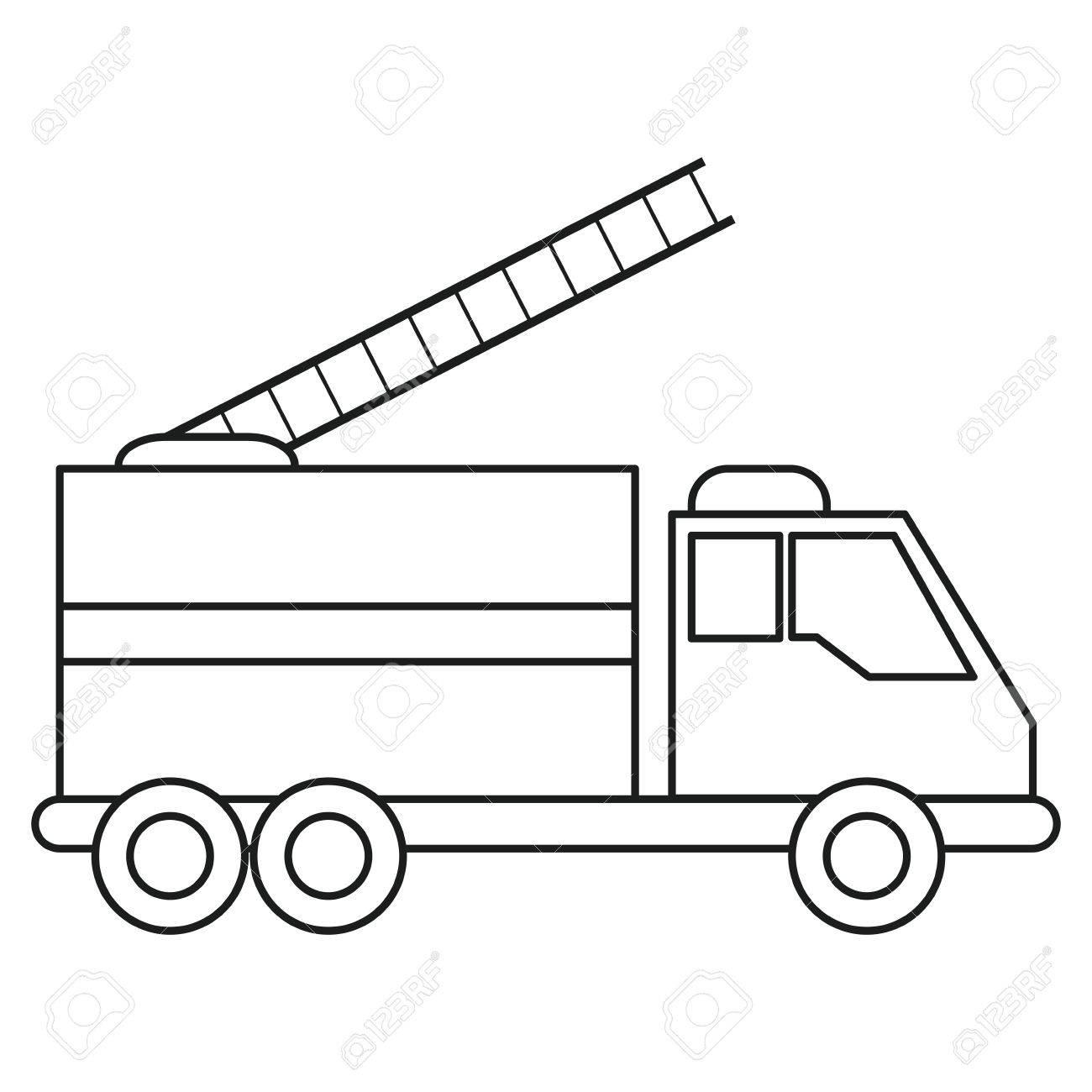 Camión De Bomberos De Rescate De Urgencia Línea De Atención