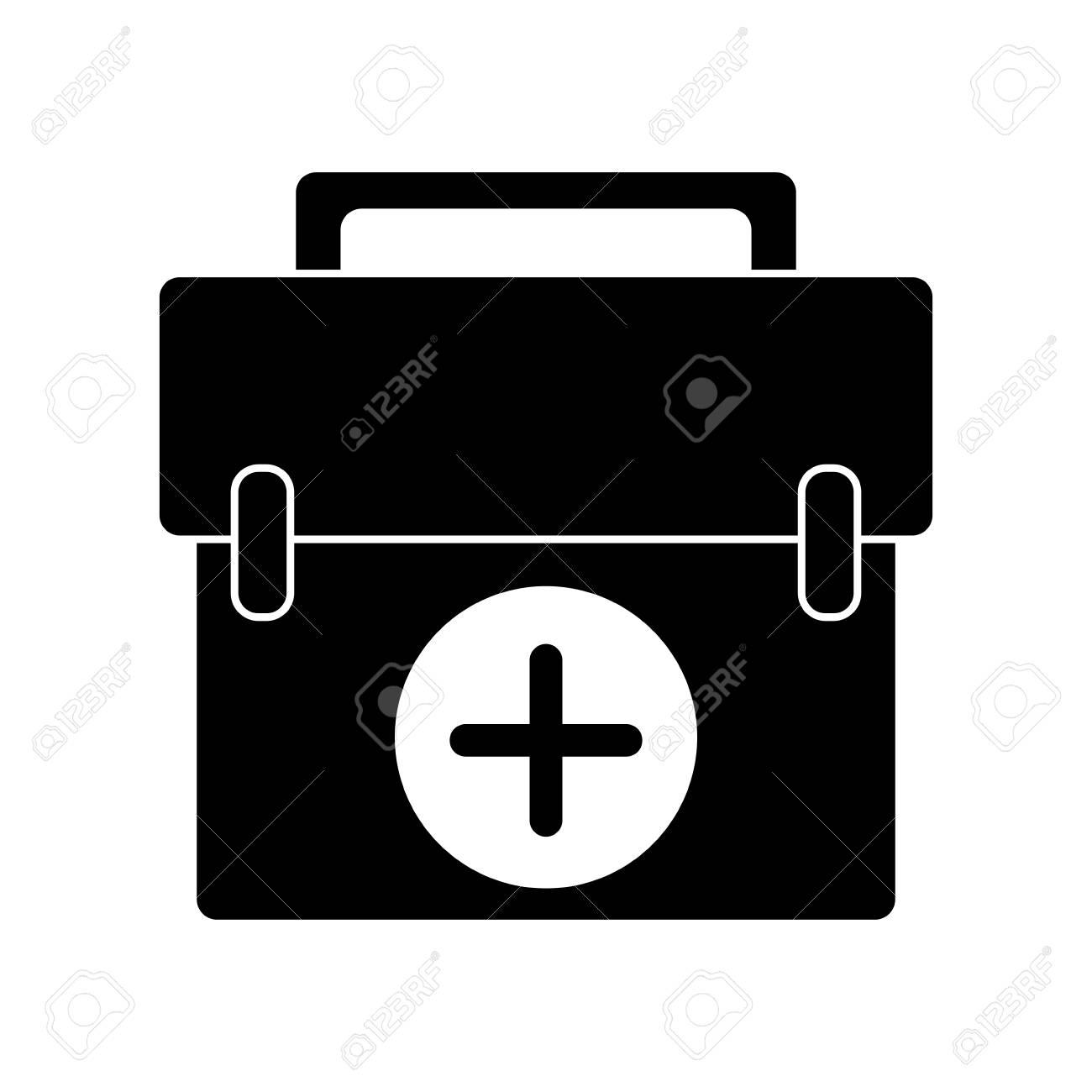 first aid kit emergency equipment pictogram vector illustration rh 123rf com vectorfirstaid serial vectorfirstaid serial