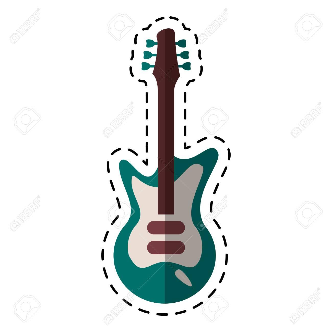 Instrumento Musical De Guitarra Eléctrica De Dibujos Animados