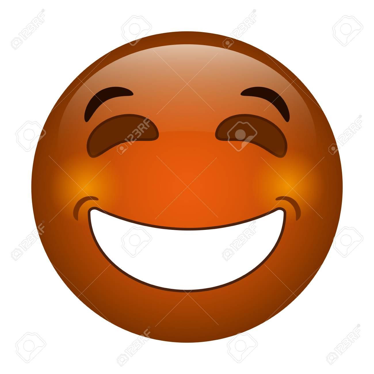 Icono De Estilo De Emoticon De Risa Ilustración Vectorial Eps 10