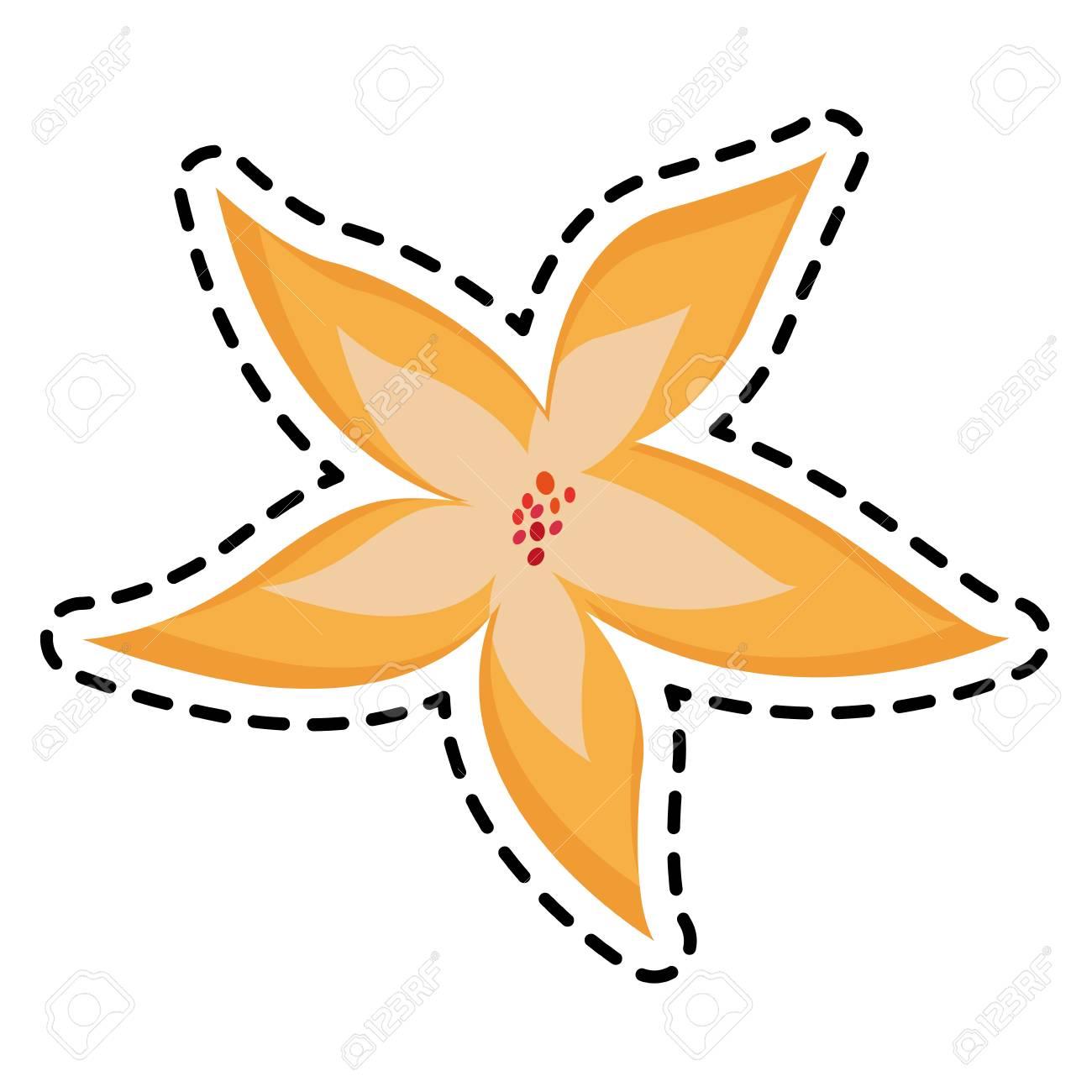 Yellow Flower Icon Image Vector Illustration Design Royalty Free