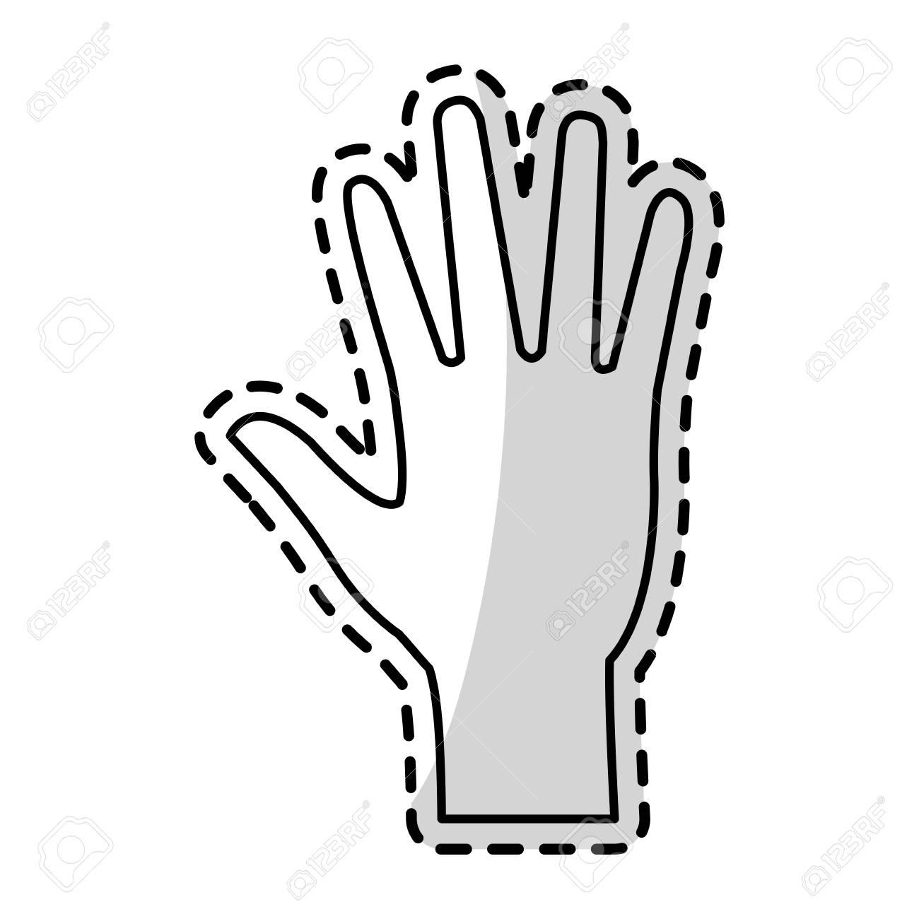 開いた手の形のアイコン画像ベクトル イラスト デザインのイラスト素材