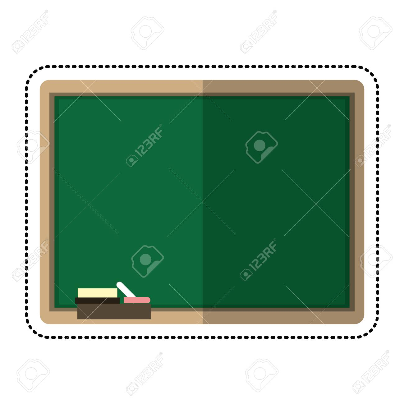 cartoon chalkboard eraser white chalk vector illustration eps rh 123rf com chalk vector free download chalk vectors team