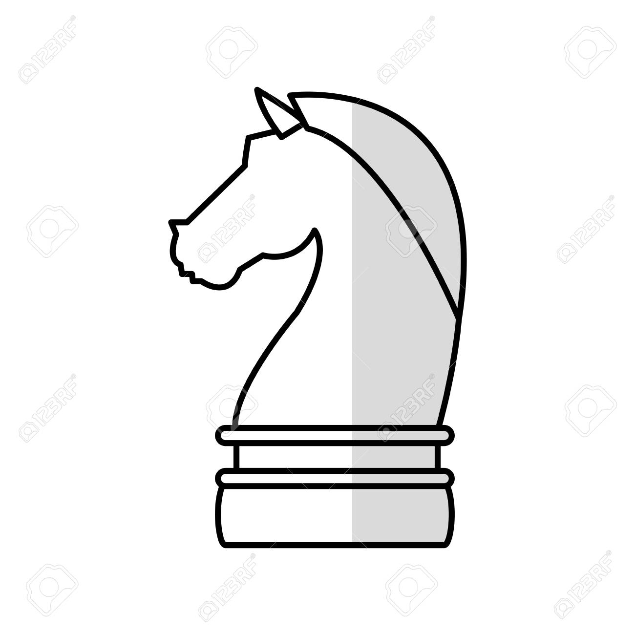 Knight Chess Piece Icon Image Vector Illustration Design Royalty Free Cliparts Vectors And Stock Illustration Image 73557605