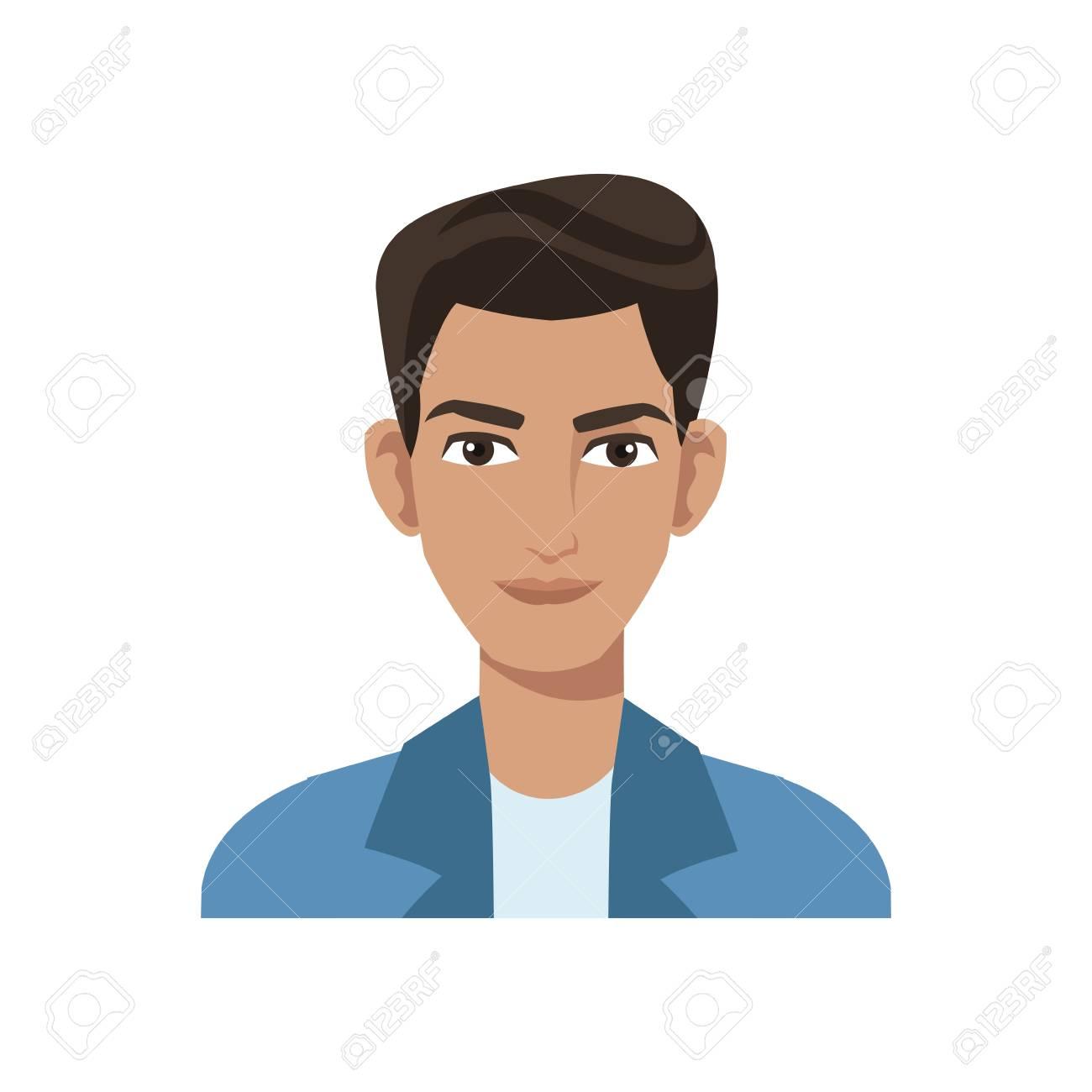 Looking guy cartoon
