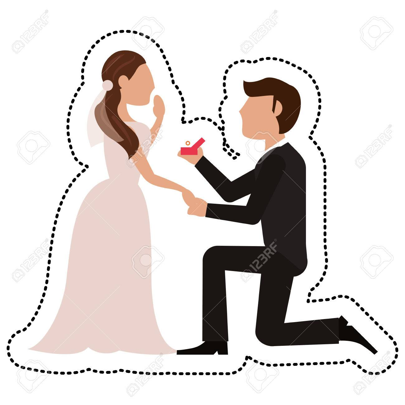 proposal groom bride wedding vector illustration royalty free rh 123rf com wedding vector clip art wedding vector free