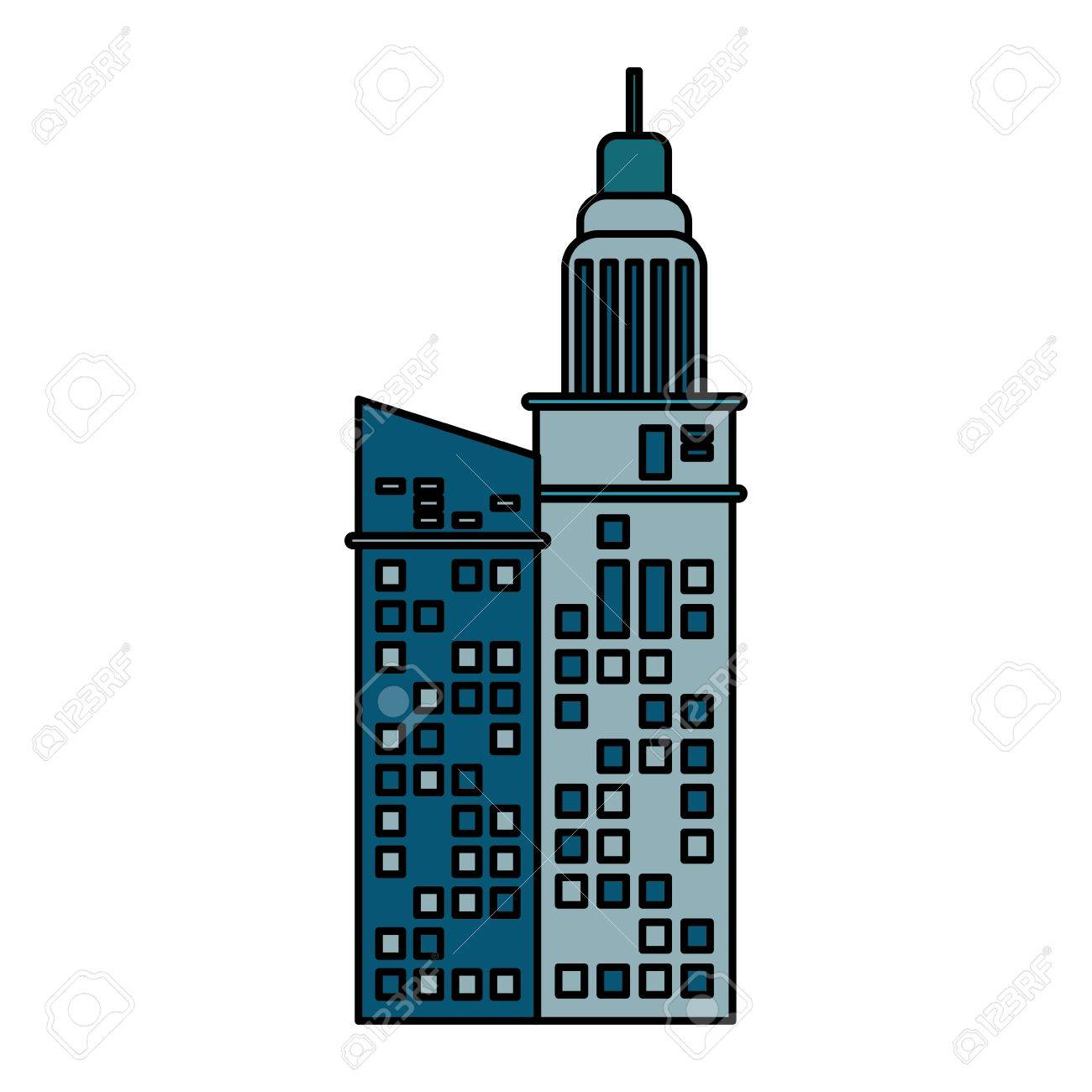building architecture hotel skyscraper vector illustration eps rh 123rf com singapore skyscraper vector skyscraper vector free