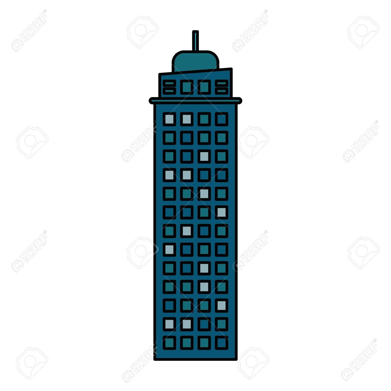 building architecture modern skyscraper vector illustration eps rh 123rf com singapore skyscraper vector skyscraper silhouette vector