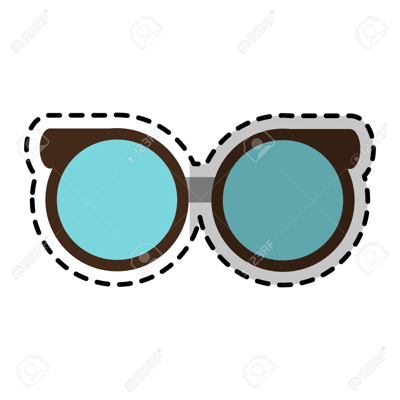 Round Glasses Frame Icon Image Vector Illustration Design Royalty ...