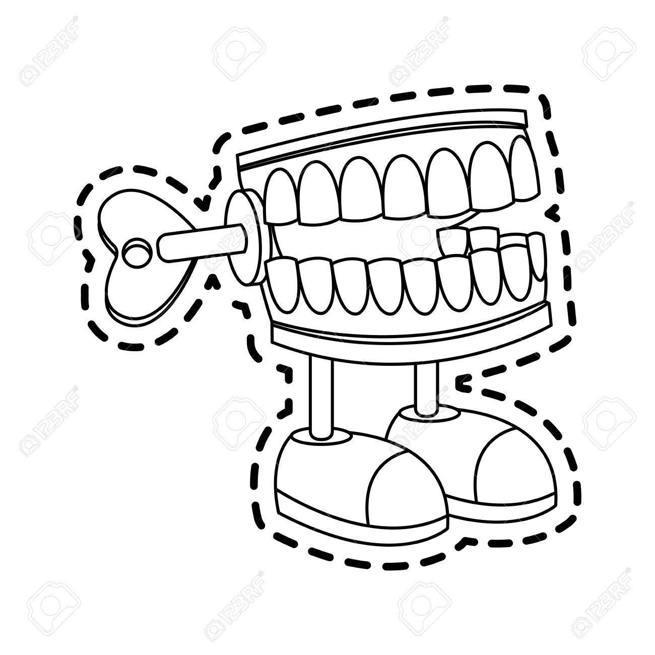 Chomping Teeth Cartoon Clipart