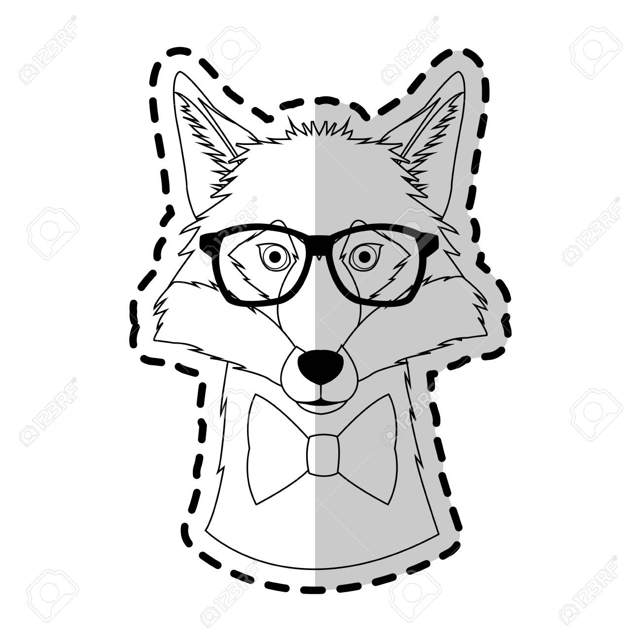 Fox Hipster Animal Icon Image Vector Illustration Design Royalty Free Cliparts Vectors And Stock Illustration Image 74946711