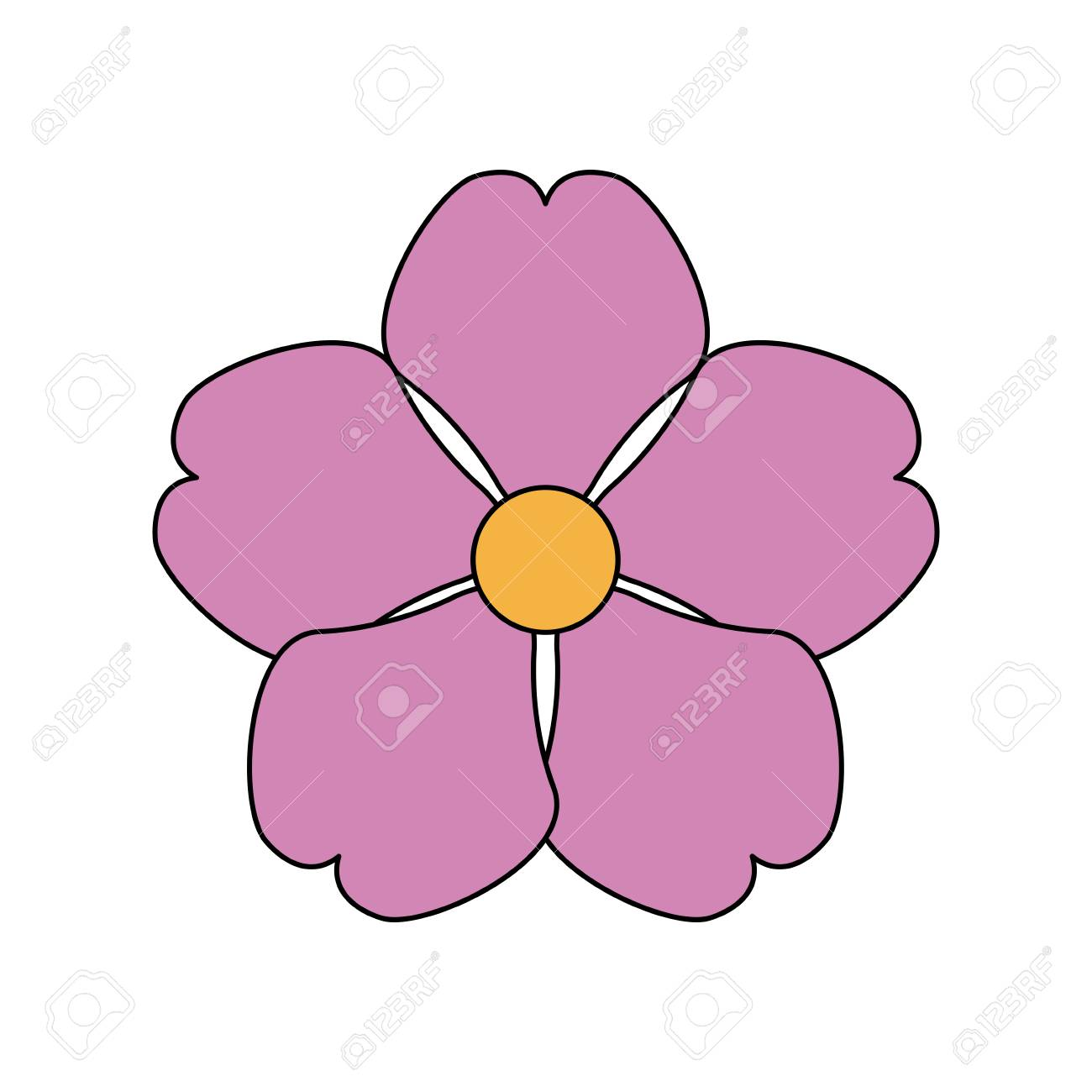 Single pink delicate flower icon image vector illustration design single pink delicate flower icon image vector illustration design stock vector 74965192 mightylinksfo