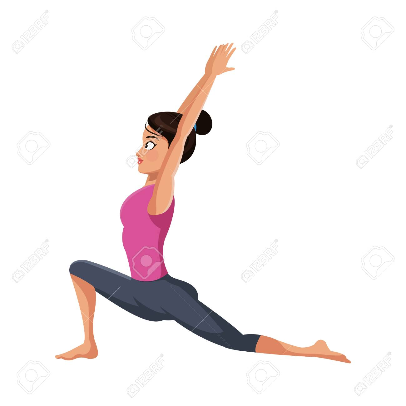 Girl Doing Yoga Cartoon Icon Over White Background Colorful Royalty Free Cliparts Vectors And Stock Illustration Image 75578882