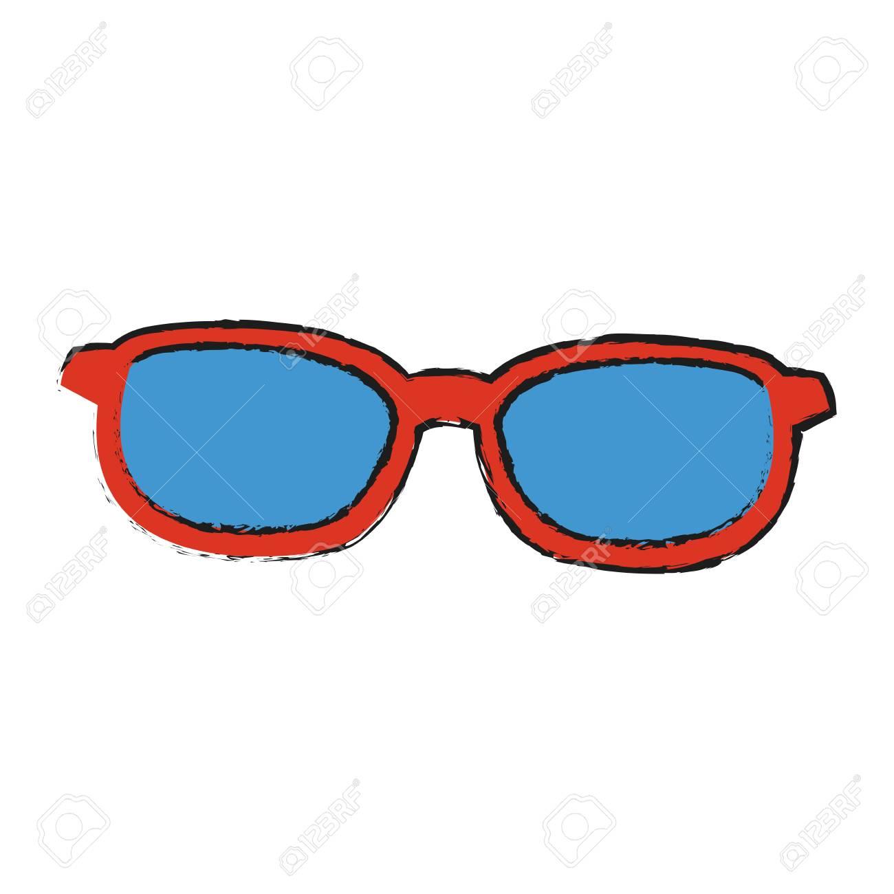 Gafas De Sol Con Diseño Rojo Del Ejemplo Del Vector De La Imagen Del ...