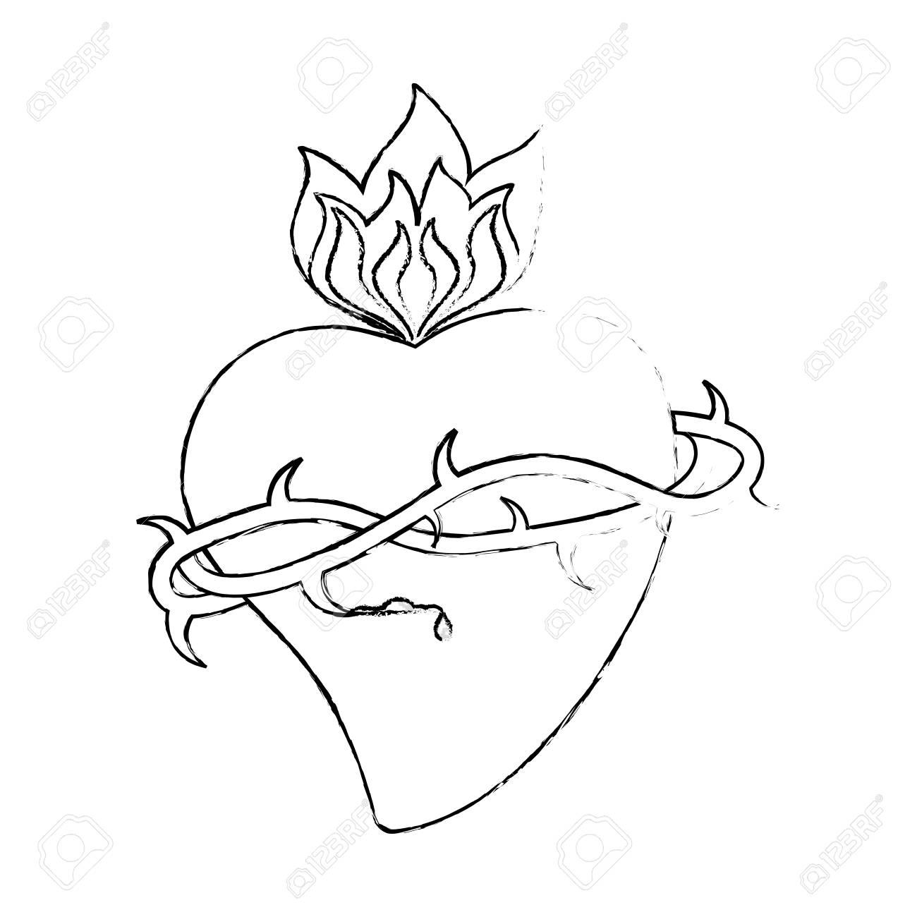 Corona Sagrada Corona Espinas Dibujo Vectorial Ilustración Eps 10