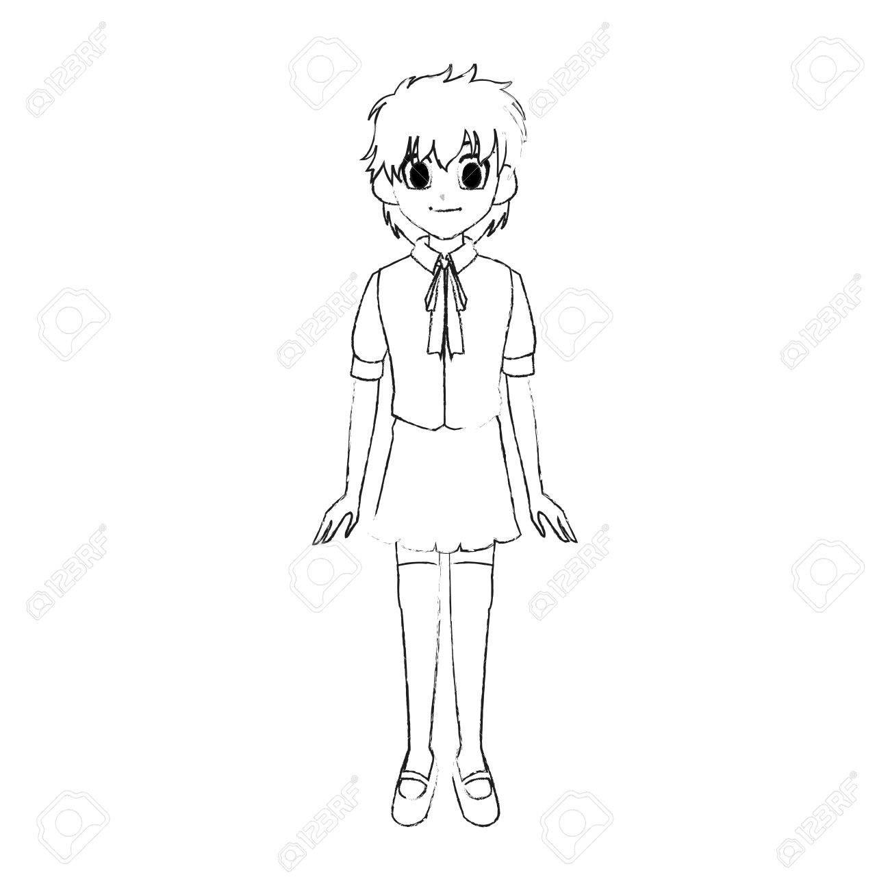 Ausmalbilder Manga Mädchen : Gro Z Gig Manga M Dchen Vorlage Bilder Beispiel Wiederaufnahme
