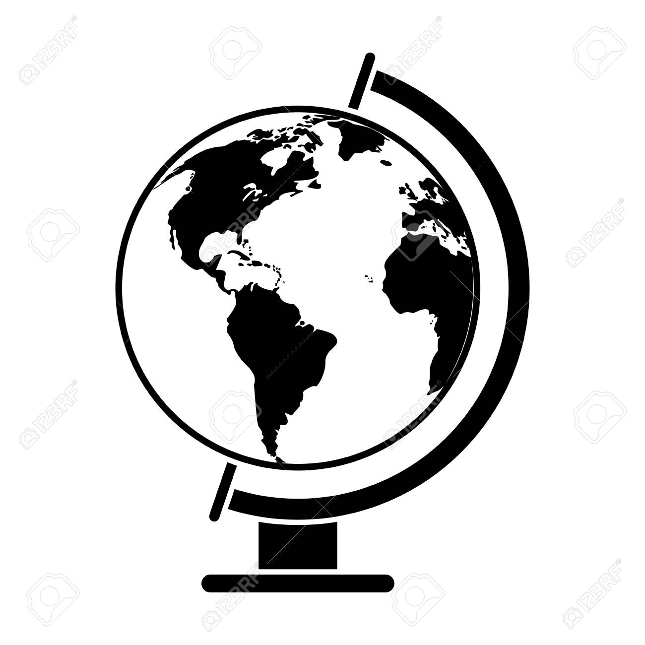 Globe world map pictogram vector illustration royalty free cliparts globe world map pictogram vector illustration stock vector 76312669 gumiabroncs Image collections