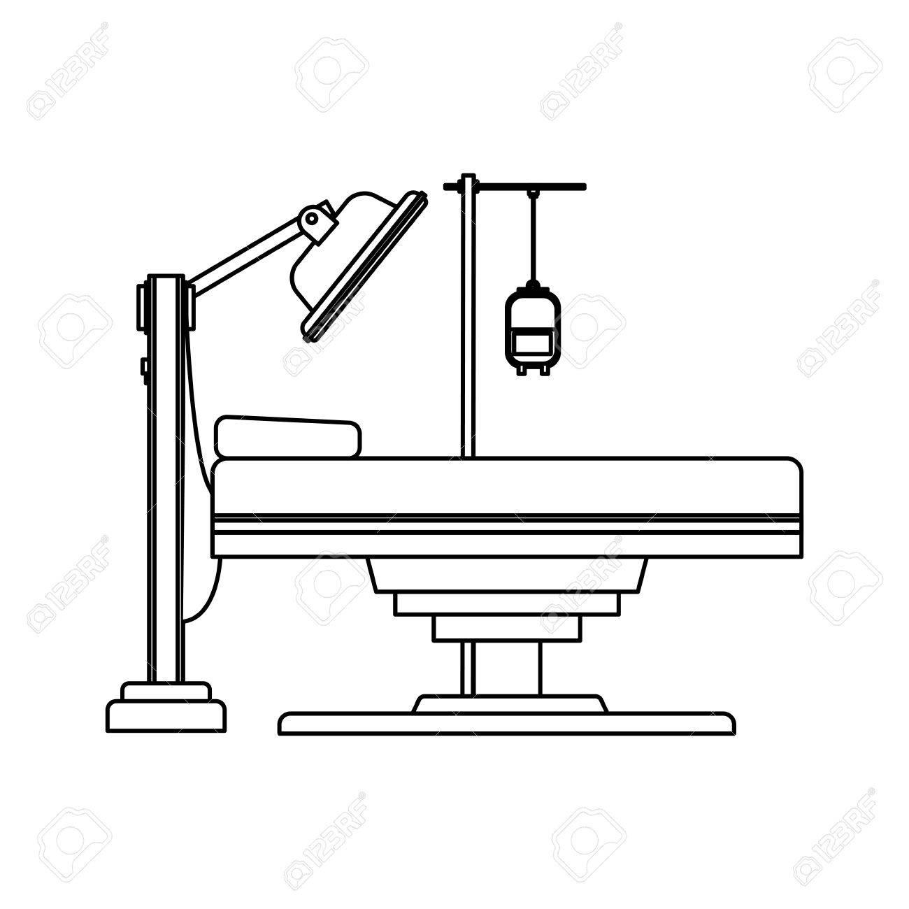 gurney or hospital bed icon image vector illustration design stock vector -  76402993