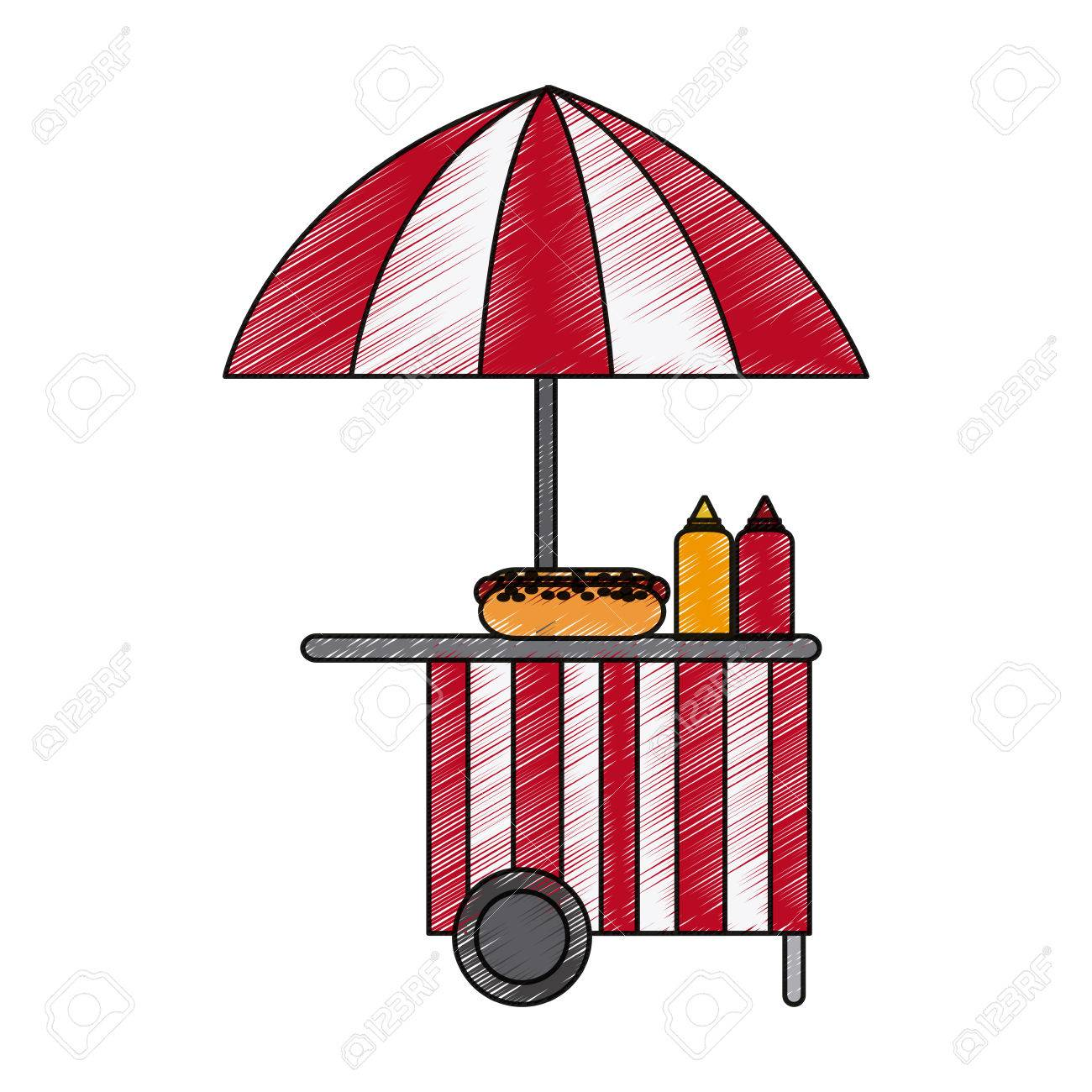 street food stand icon image vector illustration design