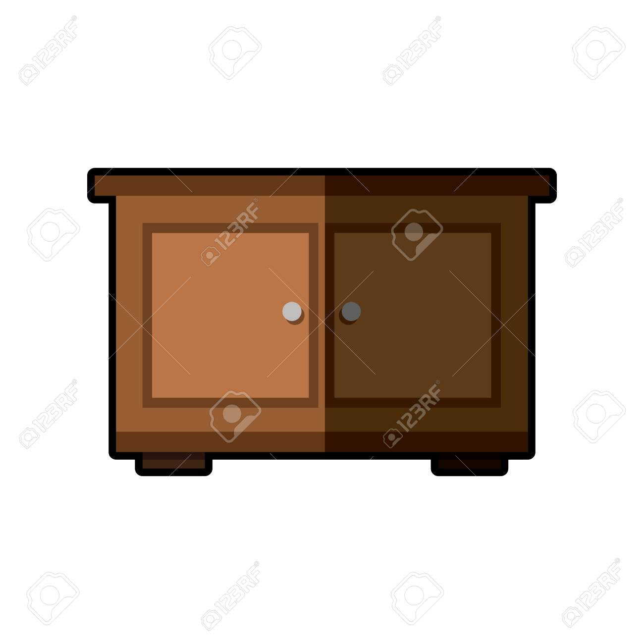 Picture of: Wooden Side Table Furniture Design Vector Illustration Royalty Free Cliparts Vectors And Stock Illustration Image 77032677