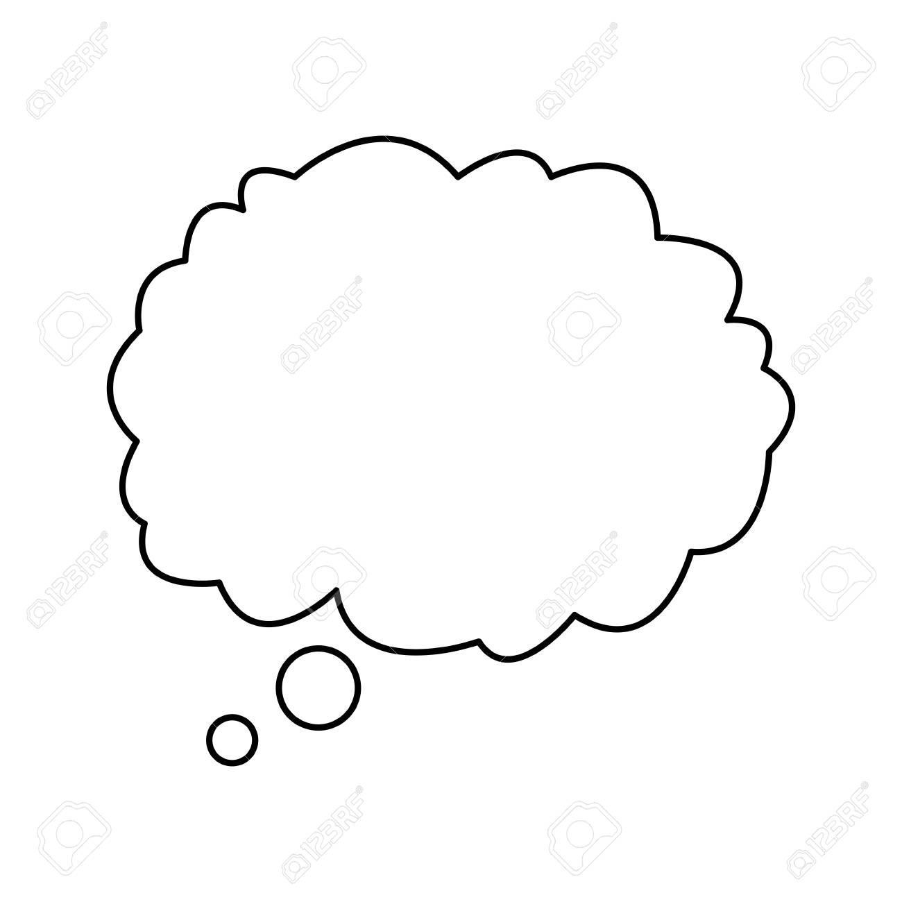 cloud talking speech outline design vector illustration royalty free