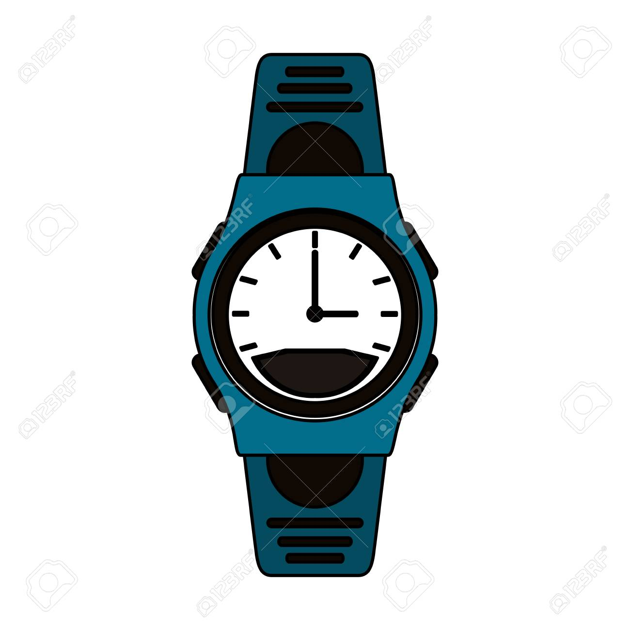 Montre Vectorielle Masculin Sport Coloré Illustration Bracelet De Graphique 2WDIH9E