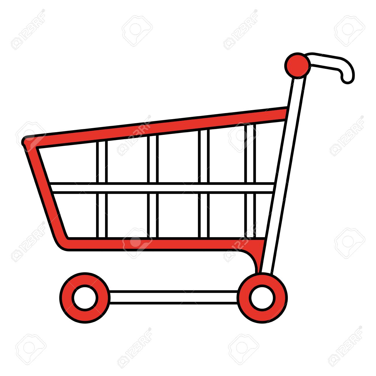 color silhouette image cartoon shopping cart vector illustration rh 123rf com shopping cart vector png shopping cart vector logo