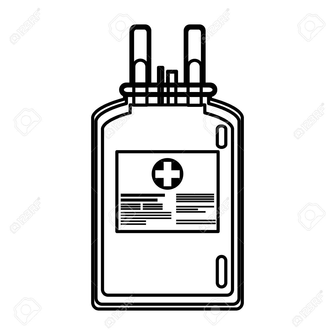 Plástico Línea Salud Atención Donar Ilustración Vector De Bolsa Sangre vwn0mN8