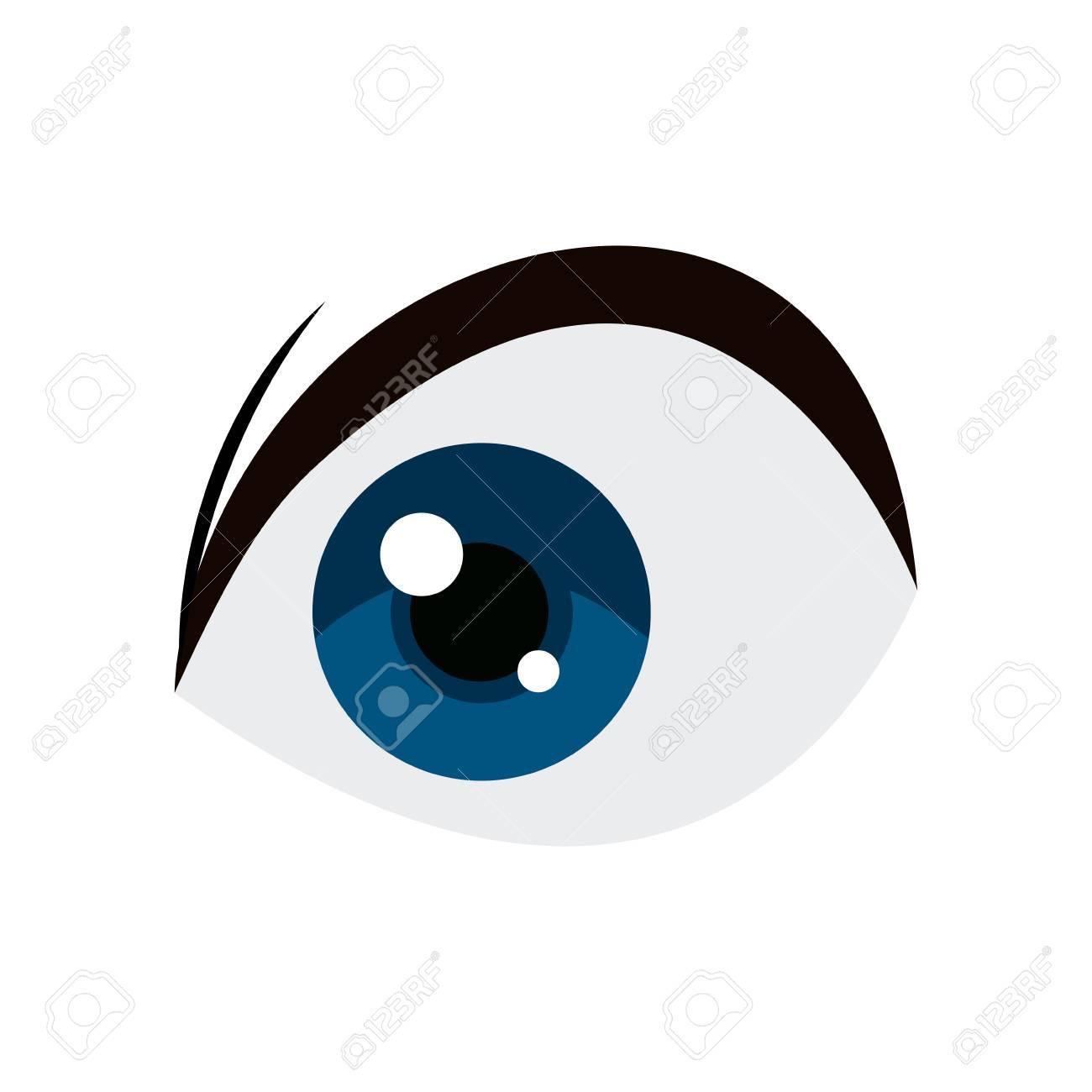 anime blue eye comic manga image vector illustration royalty free rh 123rf com eyeball vector free download eyeball vector free download