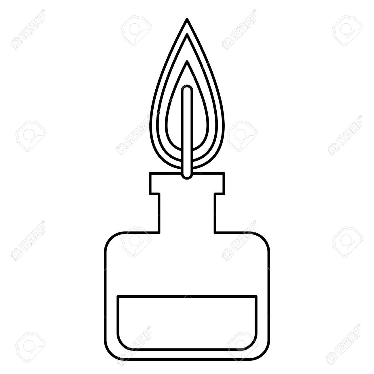 Bunsen burner experiment scientific glass line vector illustration bunsen burner experiment scientific glass line vector illustration stock vector 77697722 pooptronica Choice Image