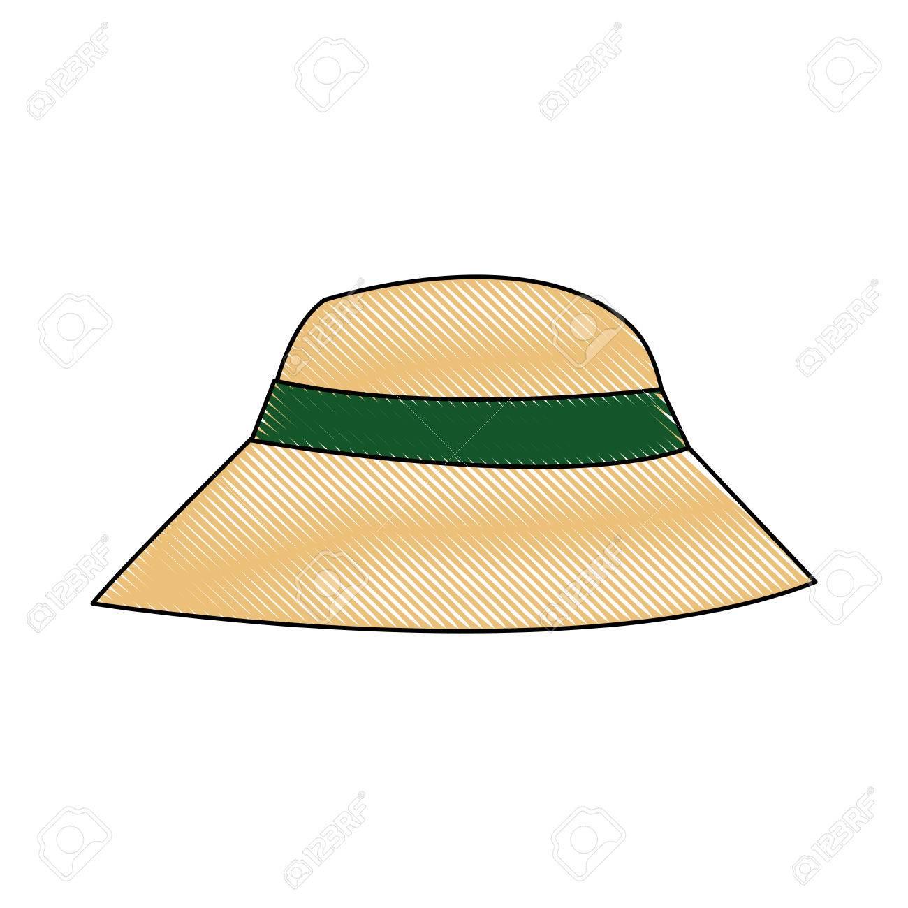 美しい帽子夏太陽フロッピー イメージ ベクトル イラスト ロイヤリティ