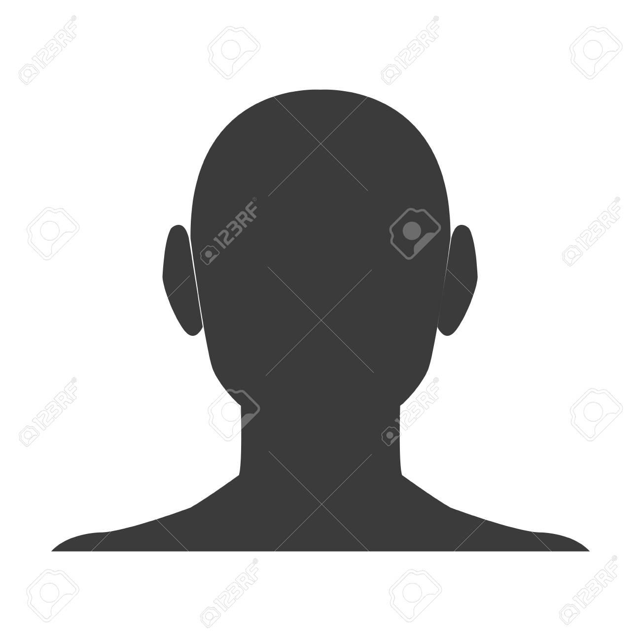 Silhouette head boy anime avatar image vector illustration stock vector 77853745