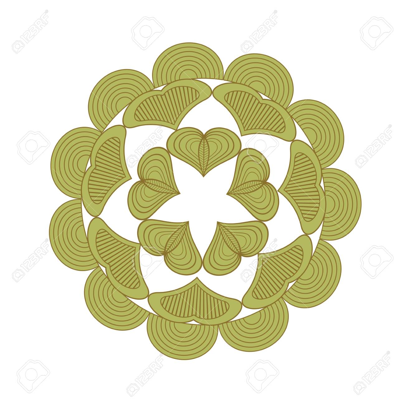 Vector Laser Flower Star Cut The Template Frame. Floral Mandala ...