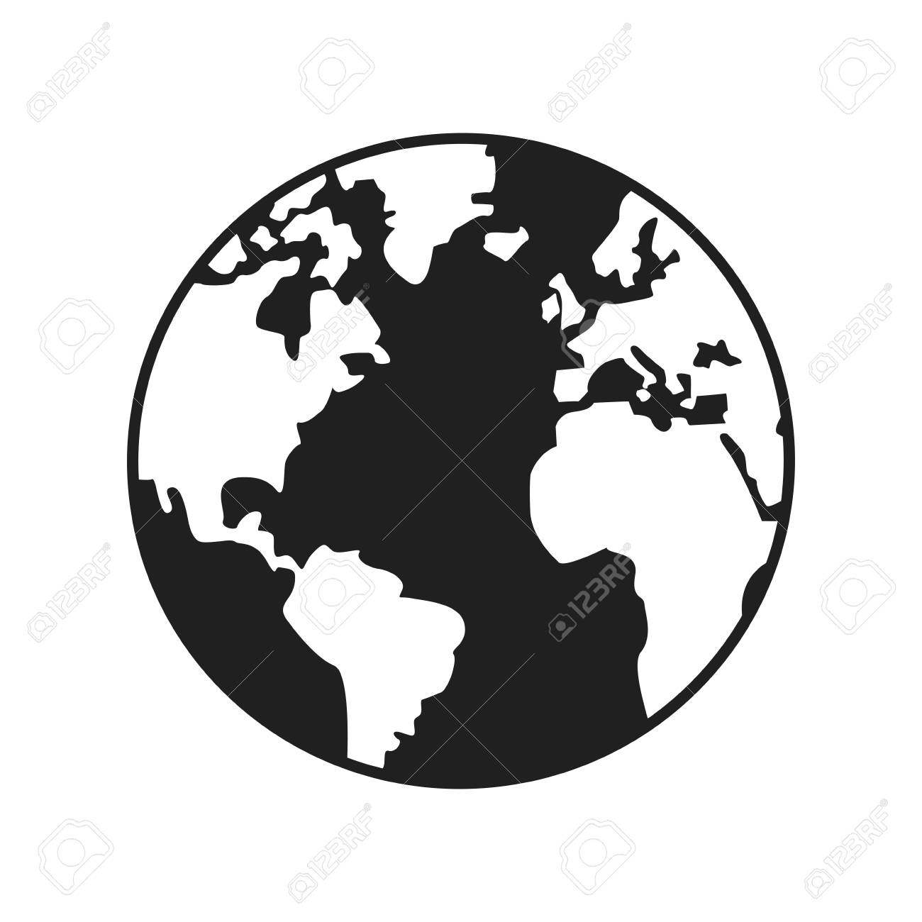 World map earth globes cartography continents vector illustration vector world map earth globes cartography continents vector illustration gumiabroncs Images