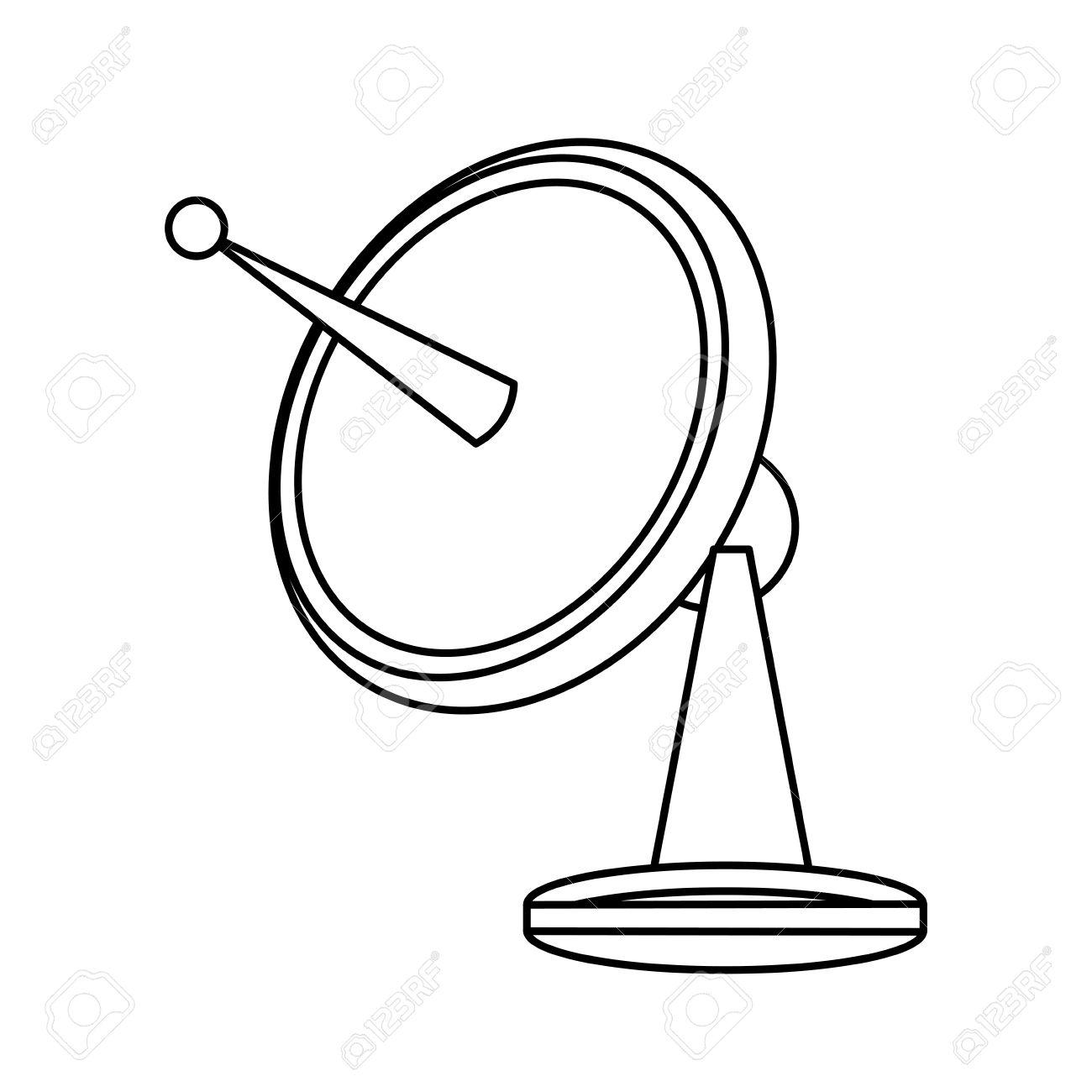 Satellite Dish Communication Technology Network Vector Illustration