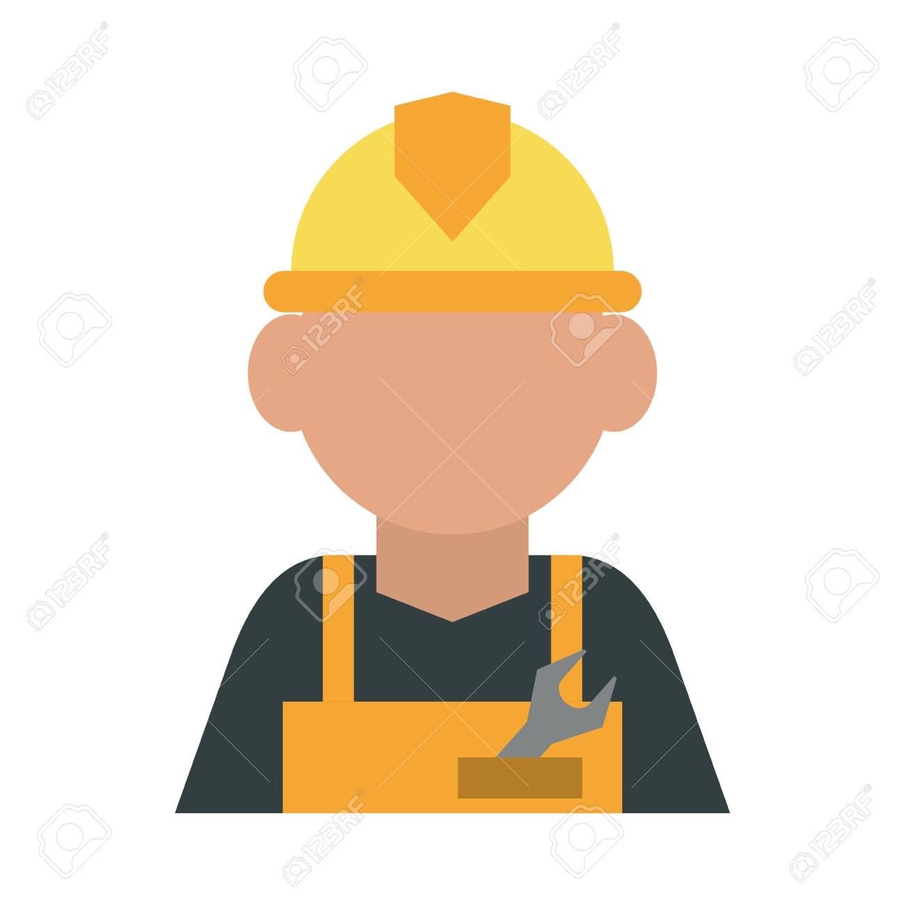 Construction Worker Builder Contractor Icon Image Vector Illustration Royalty Free Cliparts Vectors And Stock Illustration Image 78148321