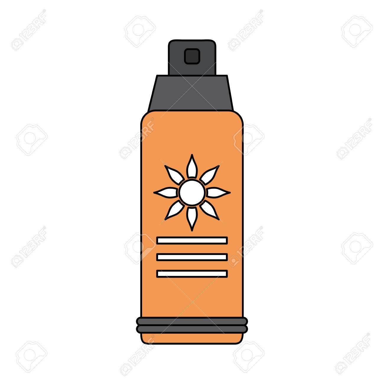 カラー イメージ日焼け止めスプレー ボトル ベクトル イラストのイラスト