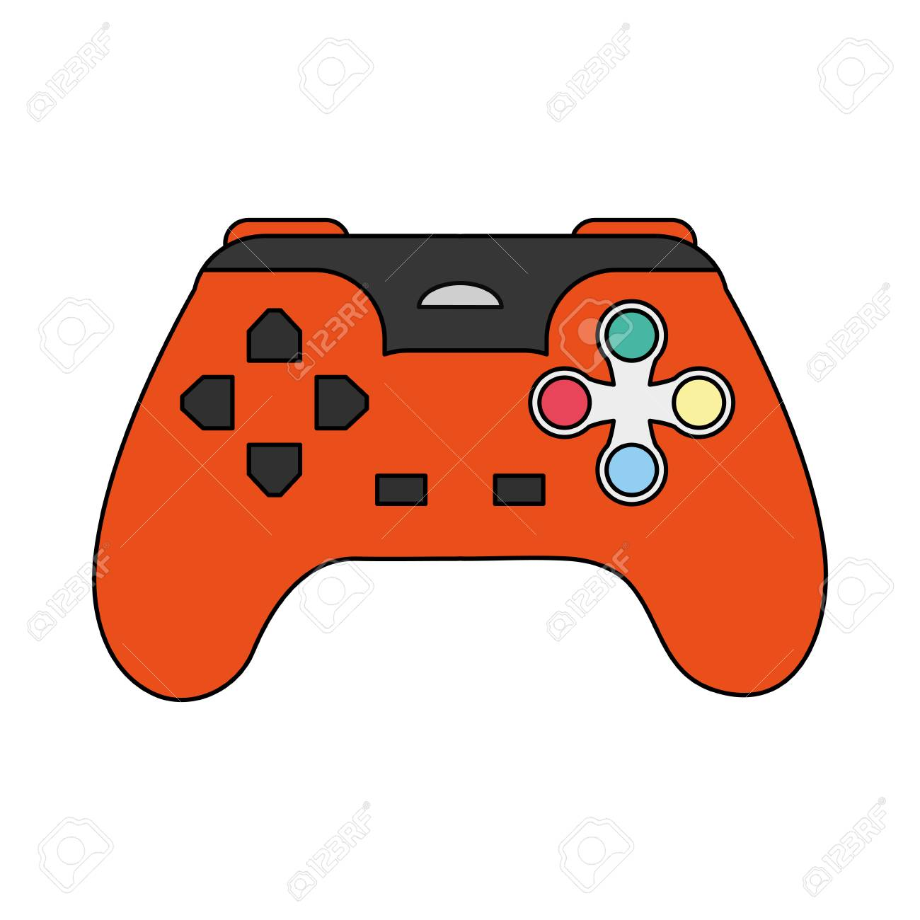 Image Couleur Dessin Anime Controle Jeux Video Vector Illustration
