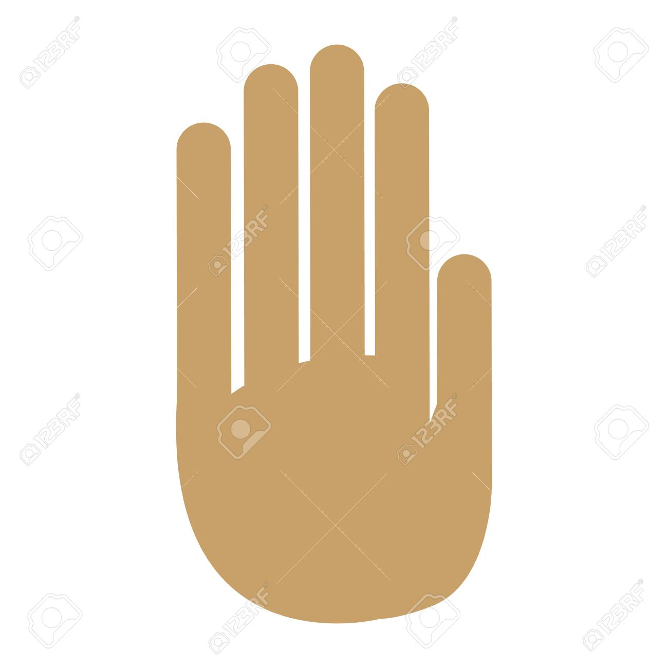 Hand Palm Human Symbol Design Vector Illustration Royalty Free