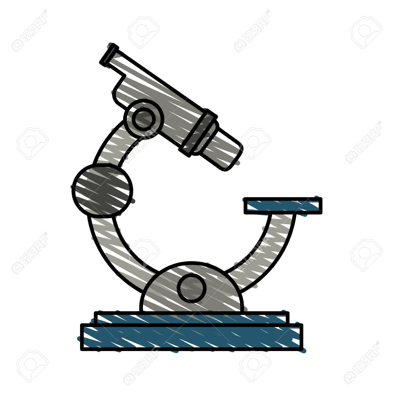 color crayon stripe cartoon microscope science tool vector illustration royalty free cliparts vectors and stock illustration image 78496780 color crayon stripe cartoon microscope science tool vector illustration