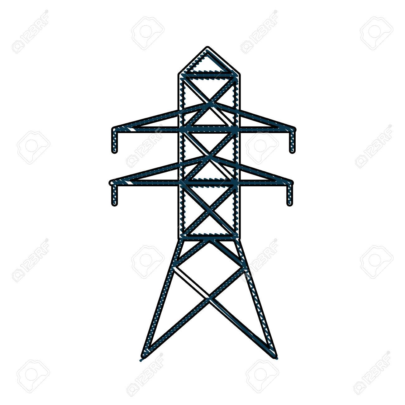 Electrical Tower Drawing Great Installation Of Wiring Diagram House Electricity Distribution Energy Light Vector Rh 123rf Com Power With Feed Mit Pdf Electronic