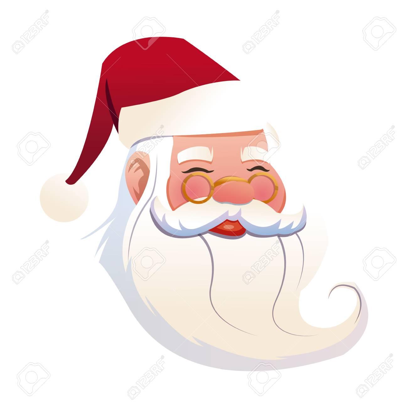 面白い顔サンタ クロース クリスマスお祝い画像ベクトル イラストの