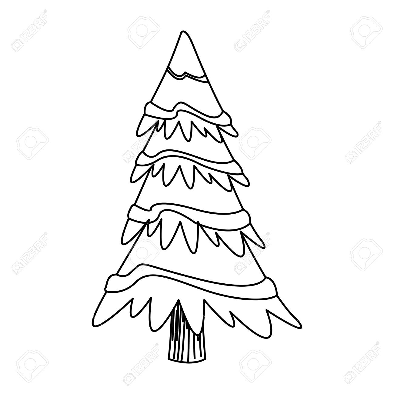 Cartoon Christmas Tree Decoration Celebration Outline Vector Royalty Free Cliparts Vectors And Stock Illustration Image 78542553 600 x 548 png 43 кб. cartoon christmas tree decoration celebration outline vector