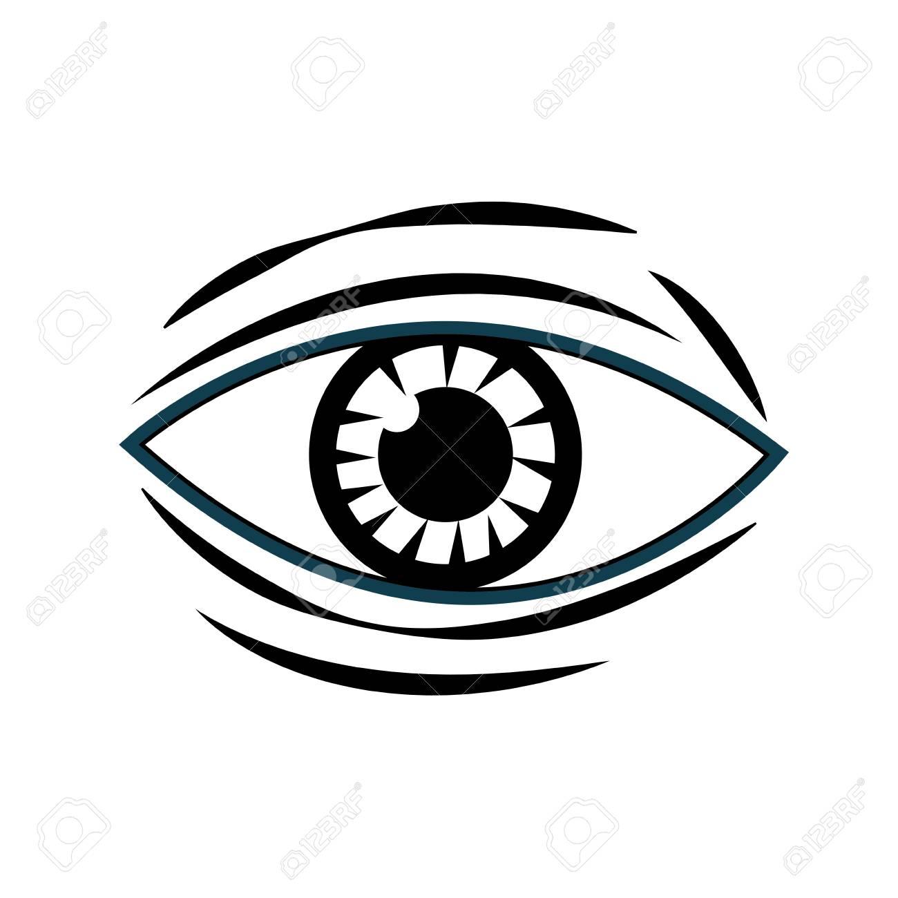 5f490ed19e9 human eye vision optical design image vector illustration Stock Vector -  78656054