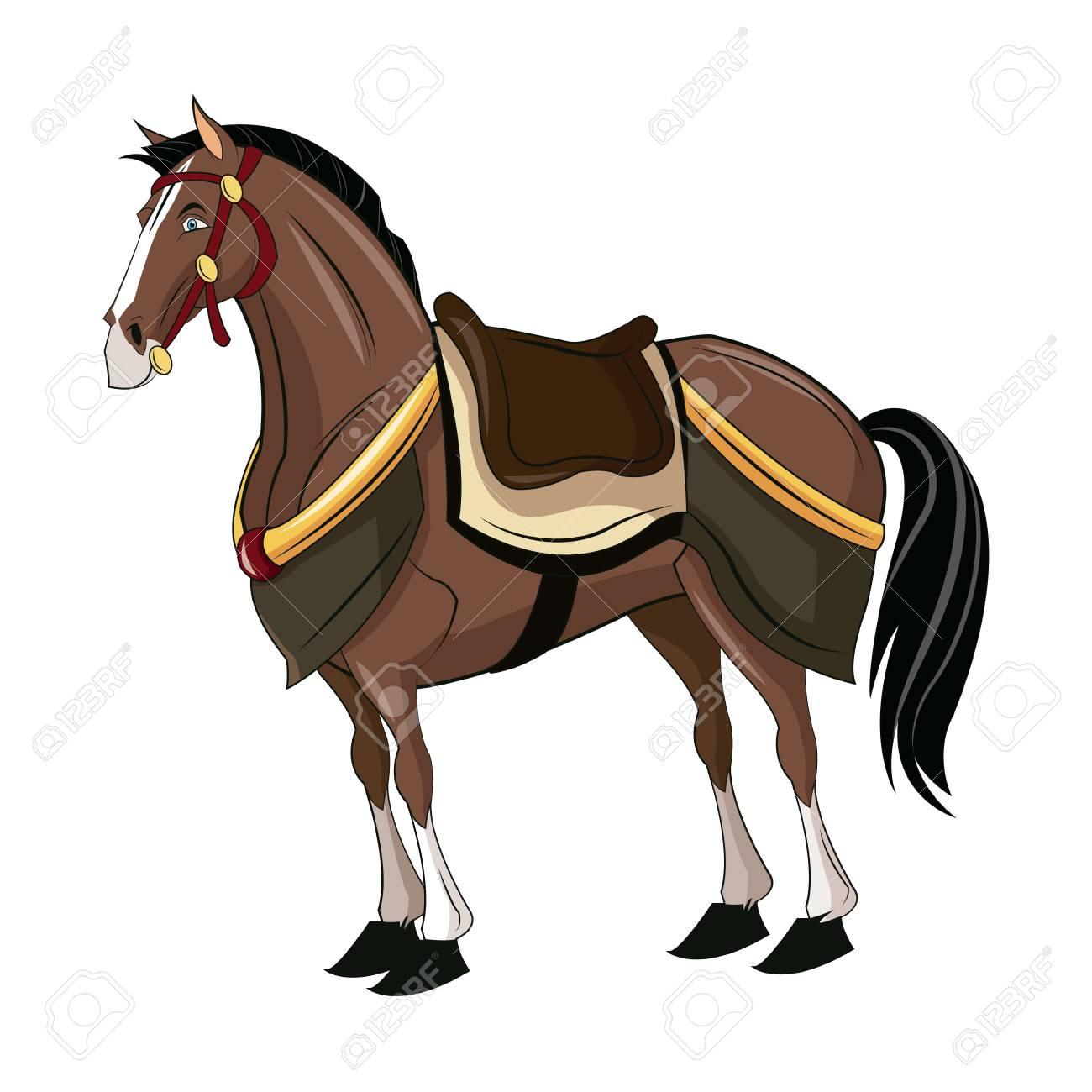 Horse Of Samurai Animal Warhorse Oriental Vector Illustration Royalty Free Cliparts Vectors And Stock Illustration Image 78861107
