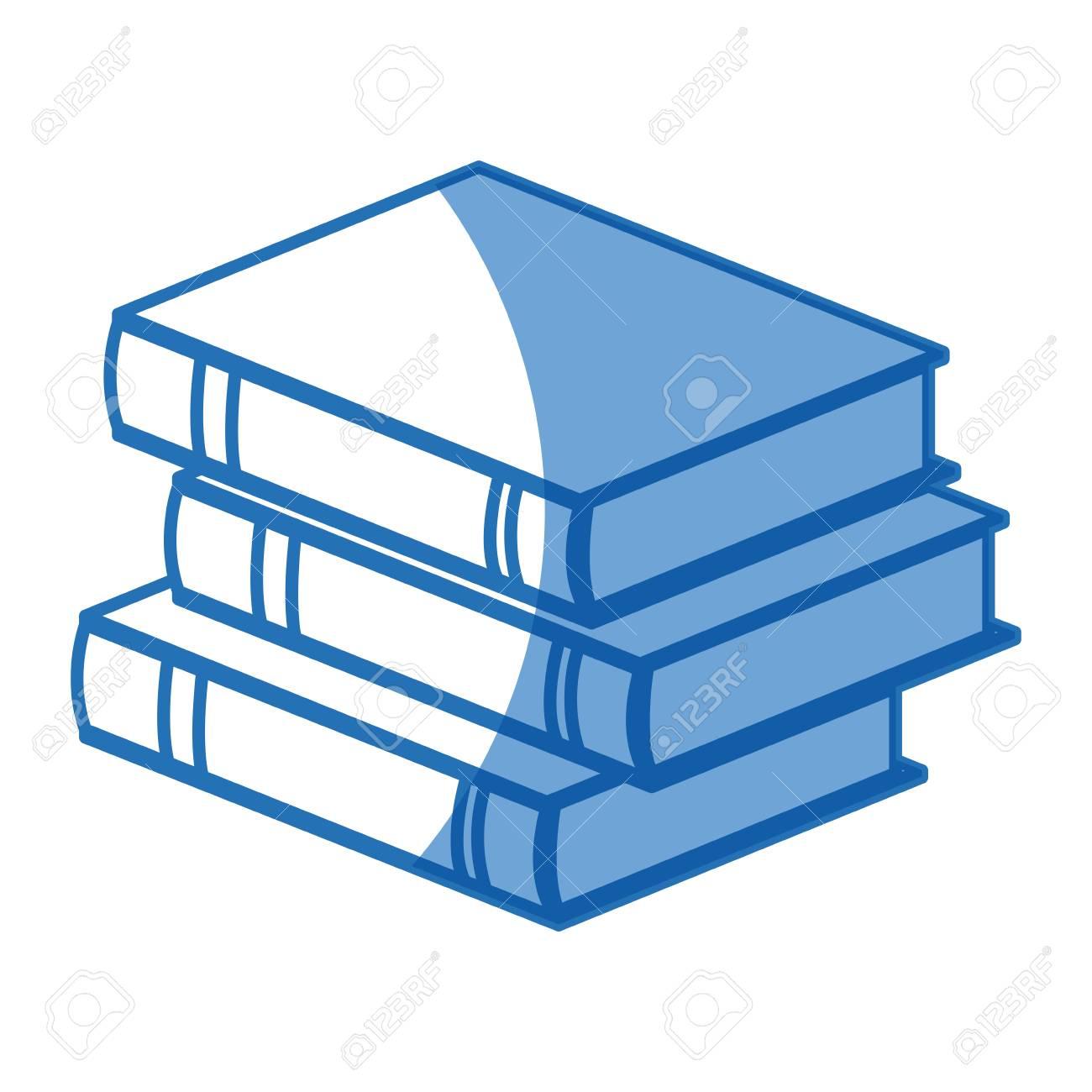 Pile Livre Litterature Apprentissage Etude Vector Illustration