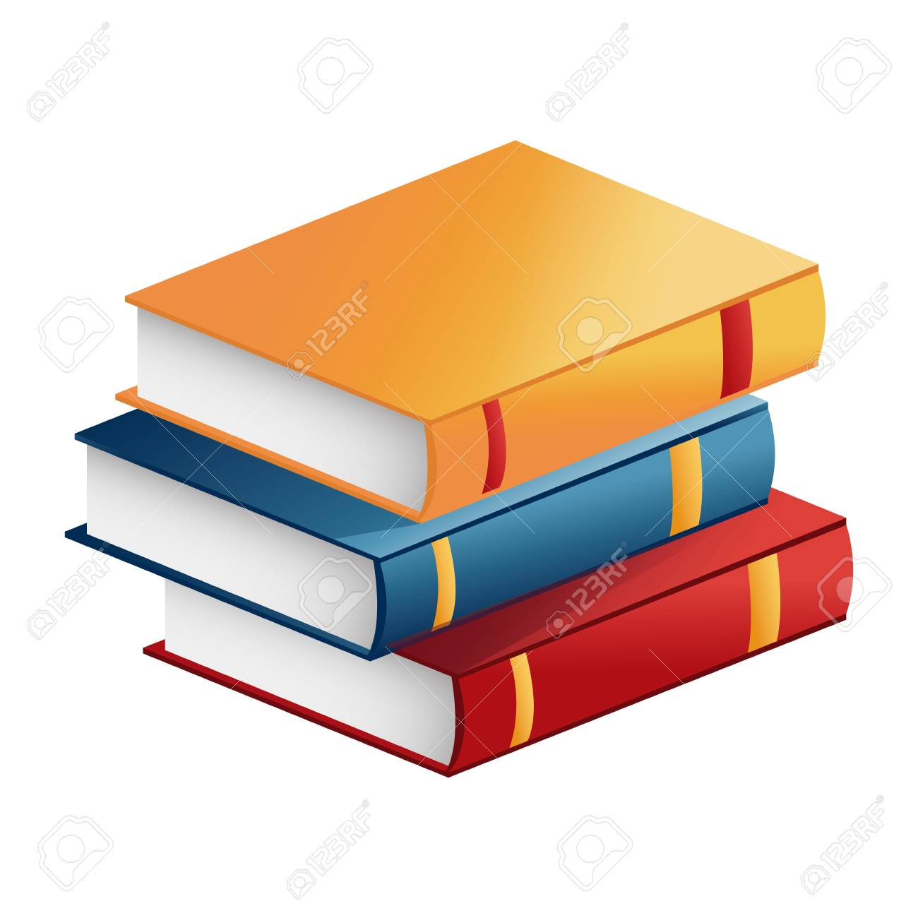 Stack Book Literature Learning Study Vector Illustration