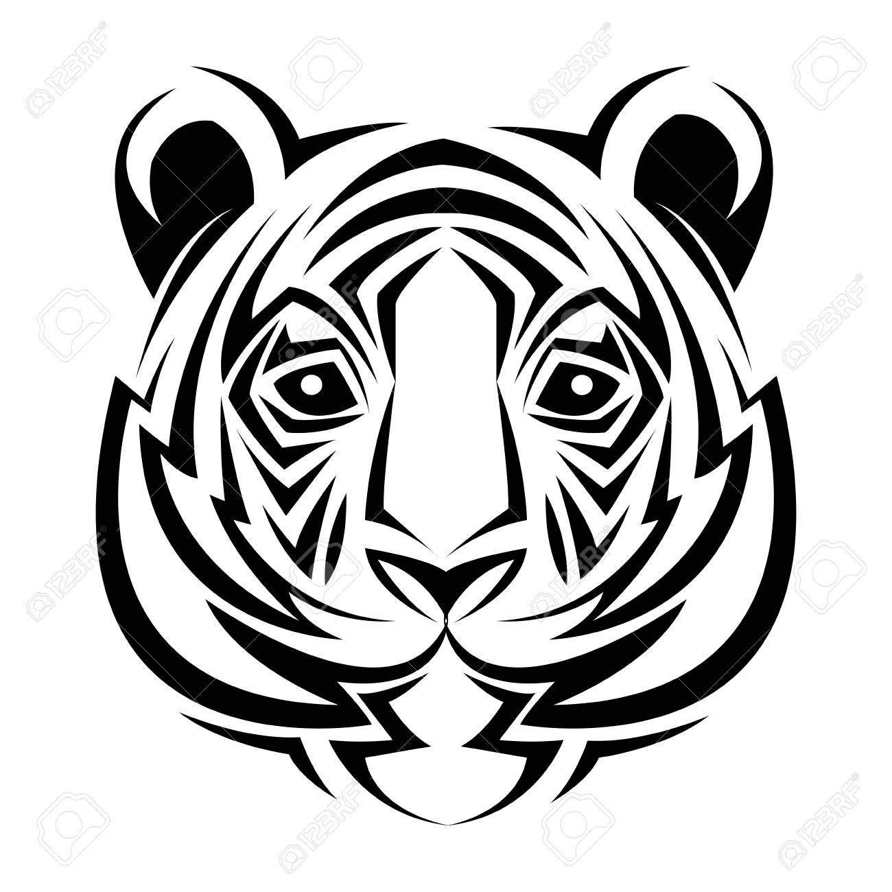 Tatuaje Tigre Tribal tigre tribal tatuaje creatividad animal diseño ilustración vectorial