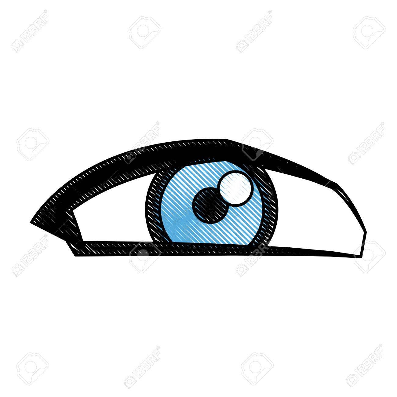 Cartoon Eye Human Look Watch Icon Vector Illustration Royalty Free Cliparts Vectors And Stock Illustration Image 78976142