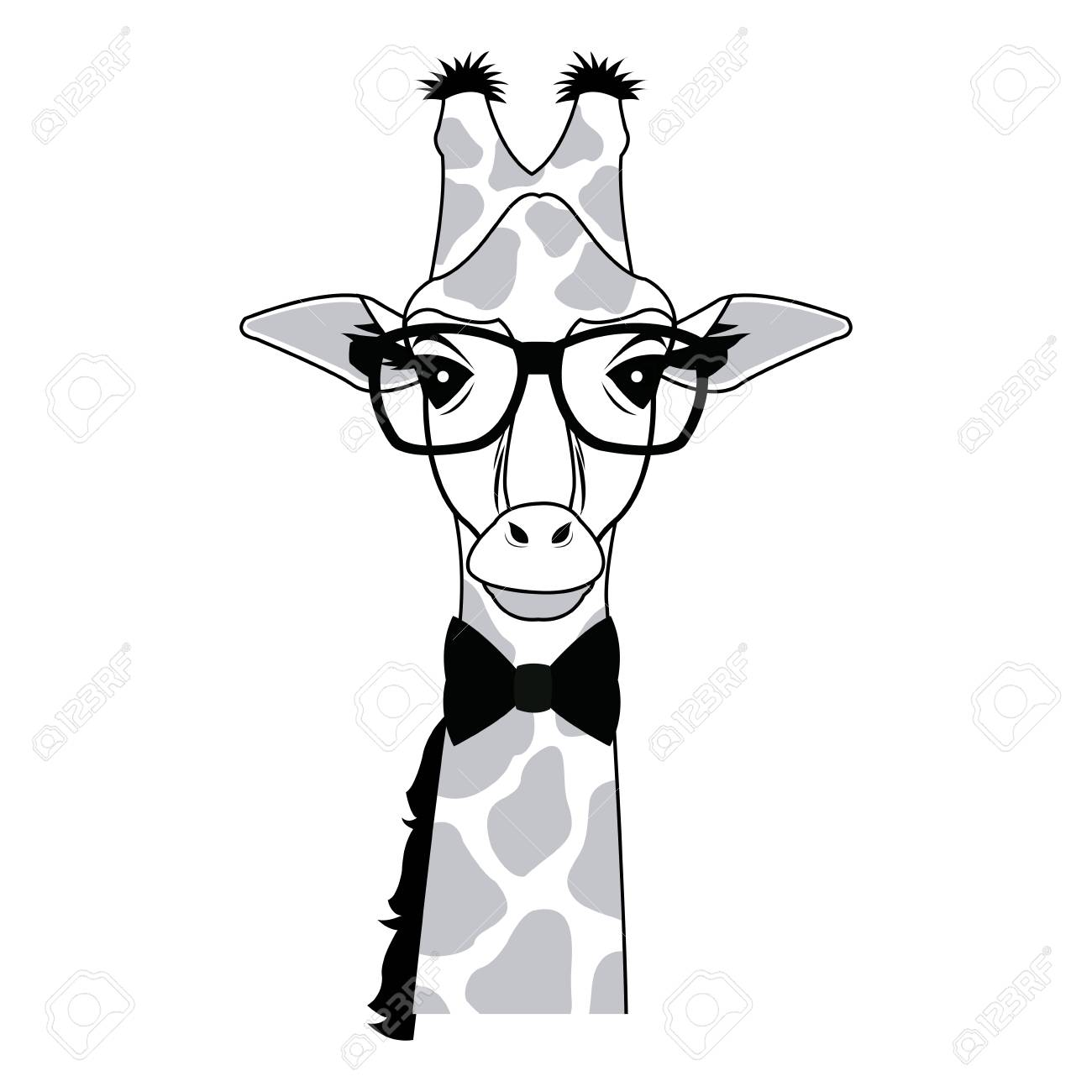 Giraffe Hipster Animal Wearing Glasses Fashion Vector Illustration Royalty Free Cliparts Vectors And Stock Illustration Image 78972520